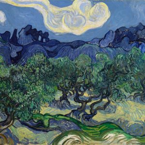 Vincent van Gogh Olive Trees with the Alpilles in the Background | 1889, Museum of Modern Art, New York