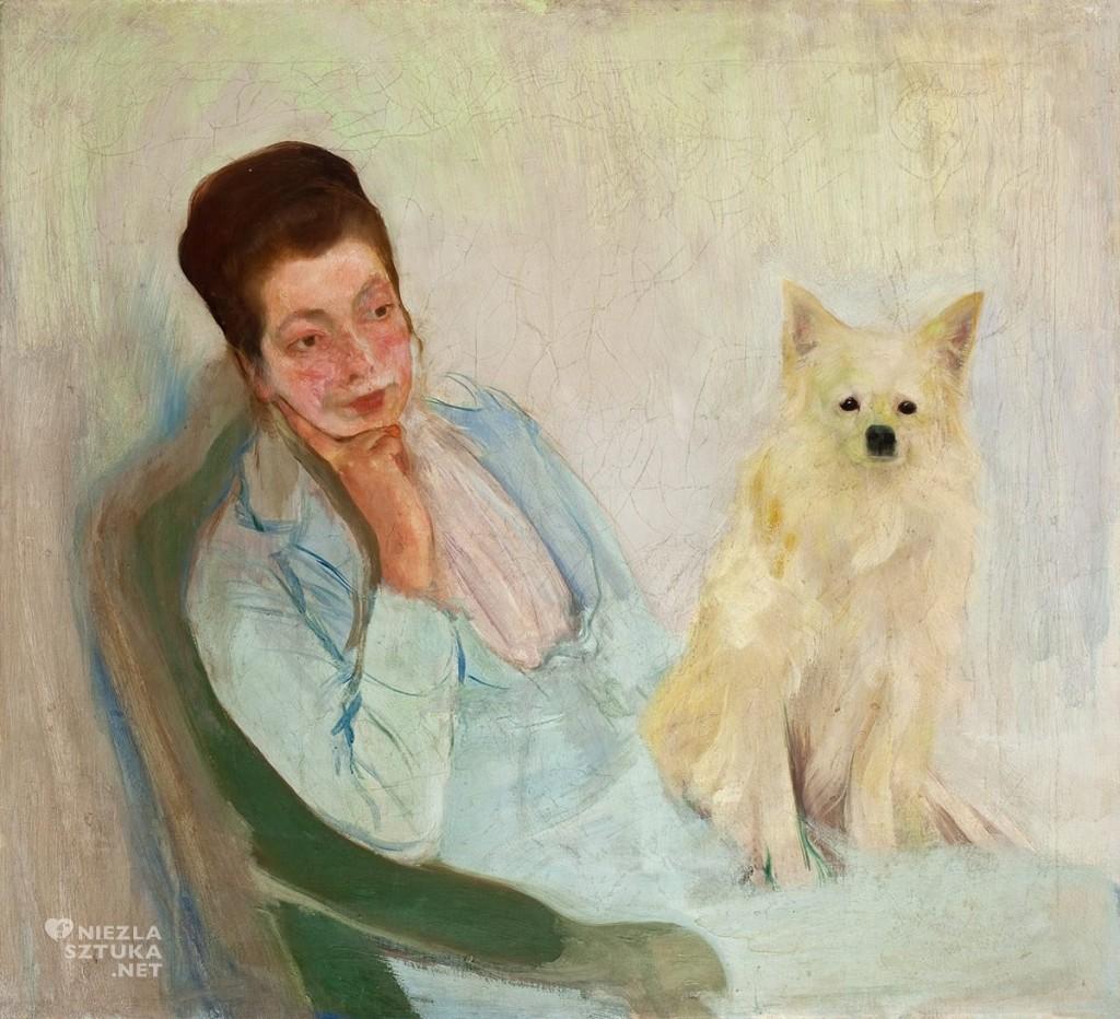 polish art, Konrad Krzyzanowski, artist's wife, polish painter, polish museum, Artophilia.com